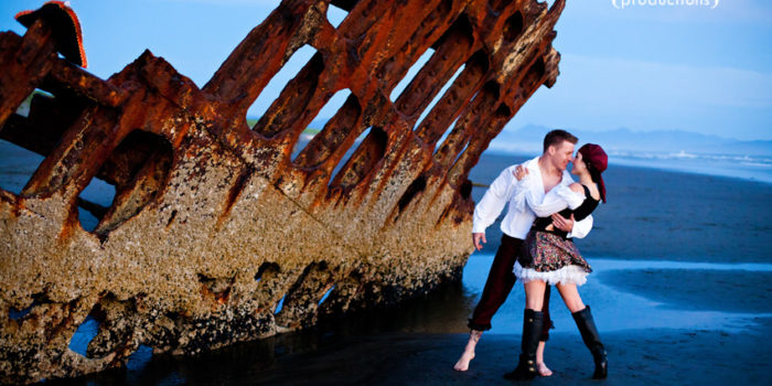Desiree + Dustin {Rockaway, Fort Stevens, Peter Iredale Shipwreck Engagement Photos}