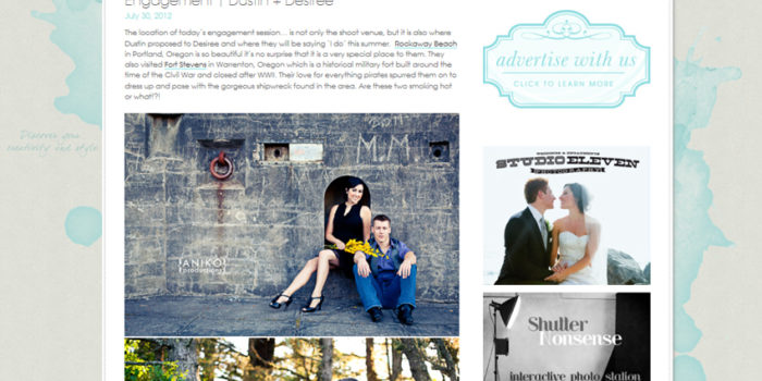 Featured on Something Turquoise! {Portland Engagement Photography}