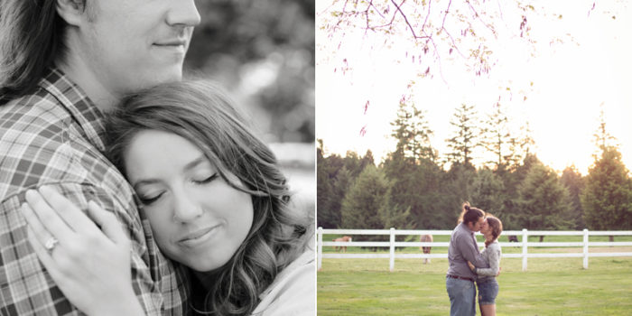 Jenny + Charlie {Portland Horse Engagement Photos}