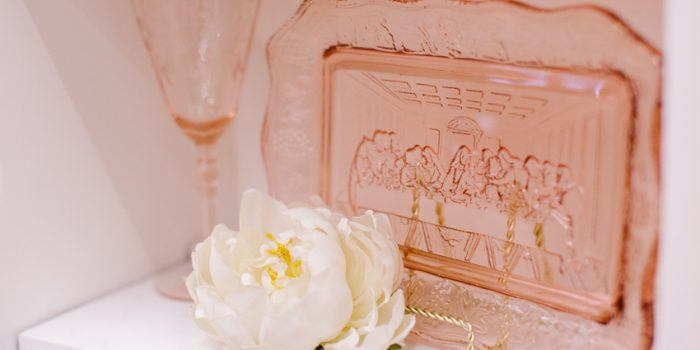 Romantic Gold & Blush Wedding Styled Table
