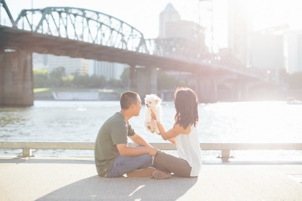 portland engagement photos, photography, photographers, puppy