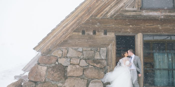 silcox hut wedding photos mt hood timberline