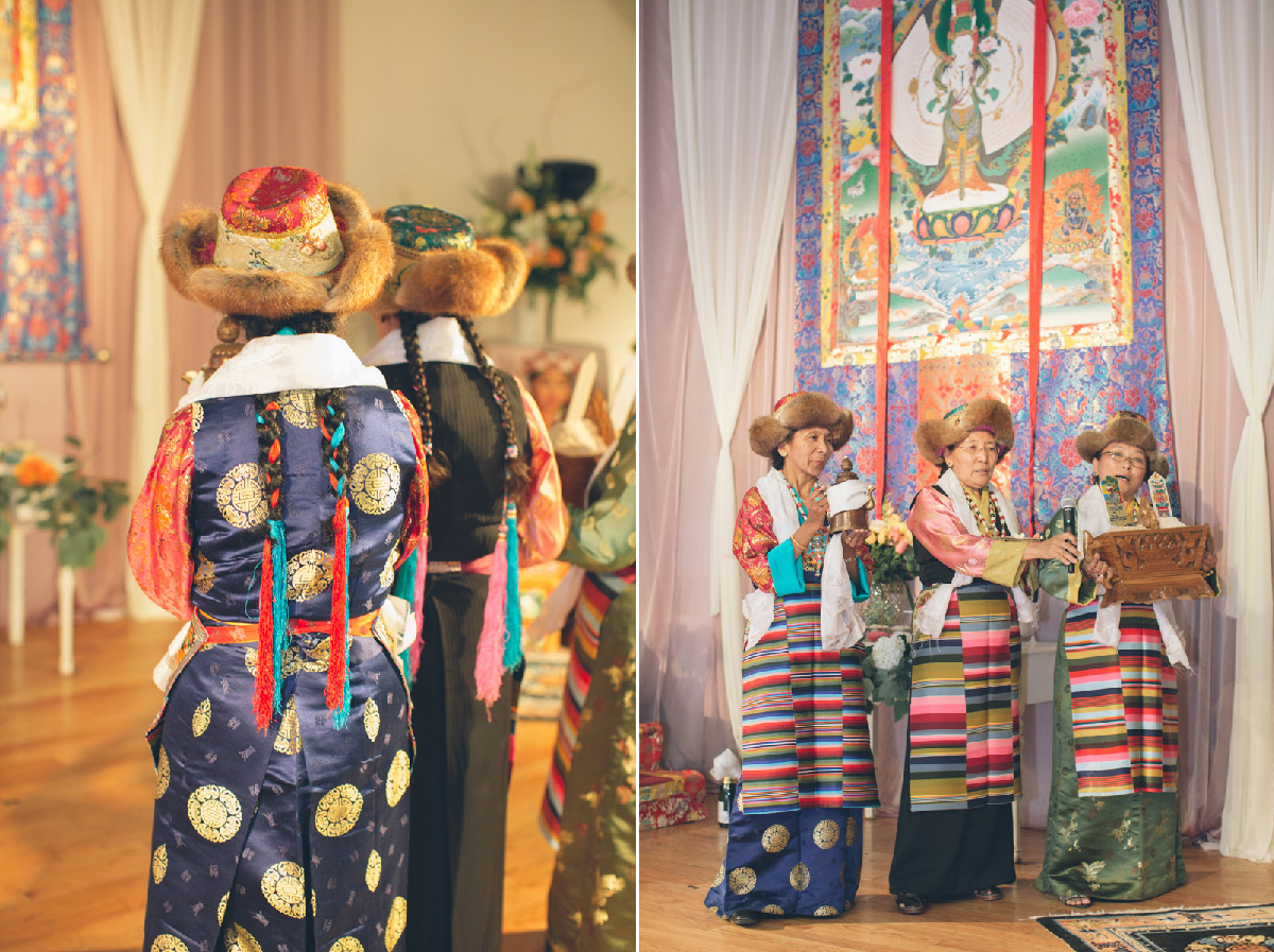 traditional tibetan wedding women attire