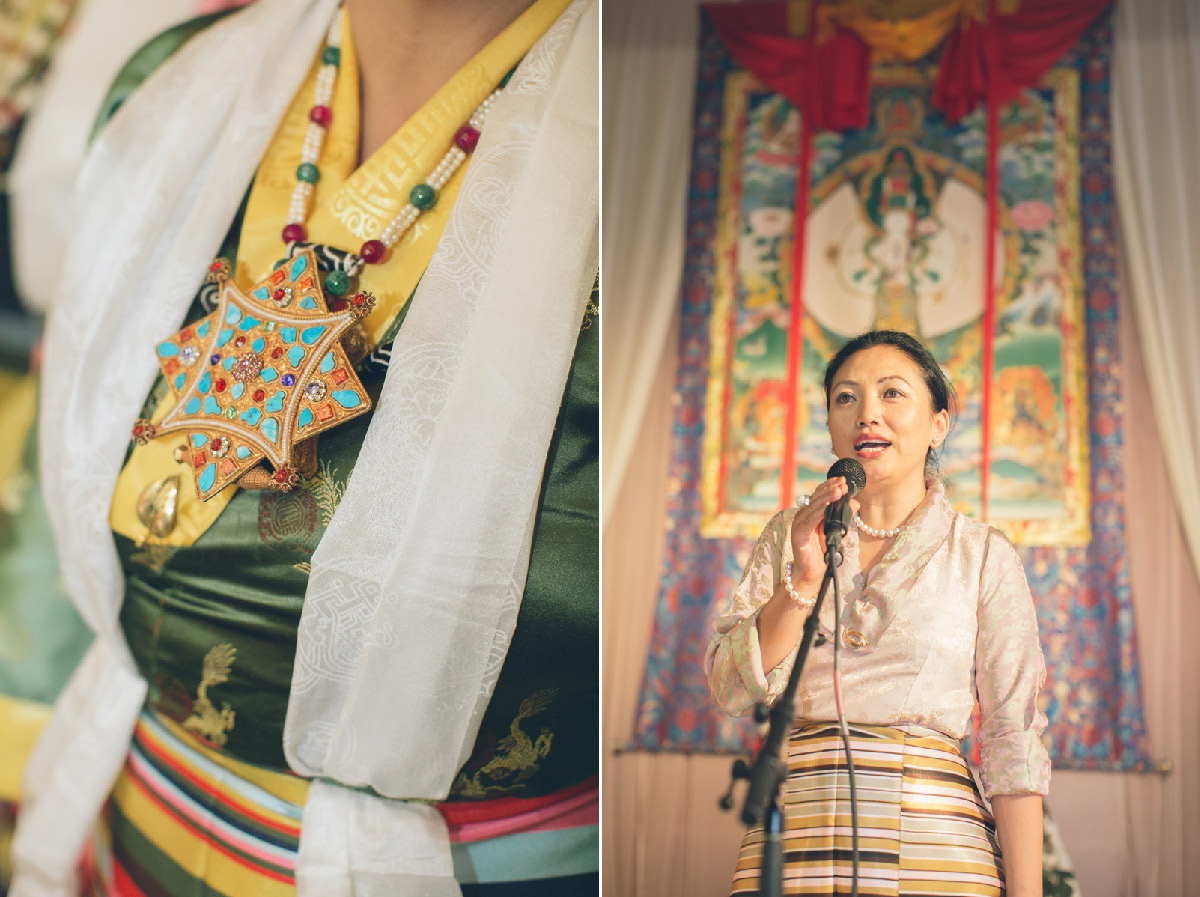 traditional tibetan wedding attire and decor