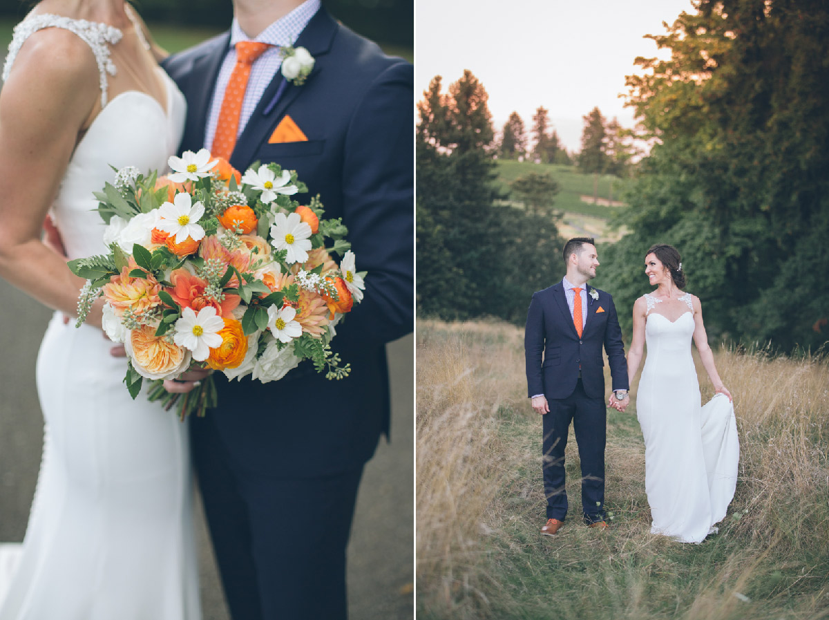 oregon golf club wedding photos