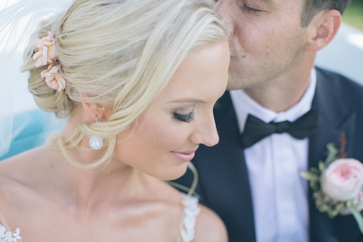 portrait of beautiful bride and groom