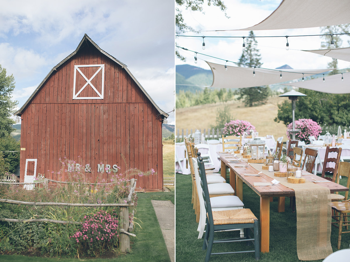 barn wedding at mt hood bed and breakfast oregon