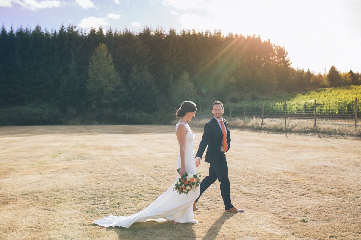 oregon golf course wedding pictures