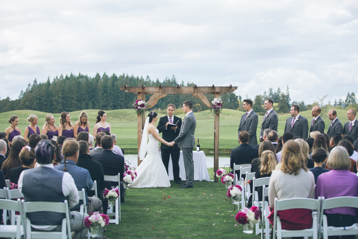 the reserve golf club outdoor wedding ceremony