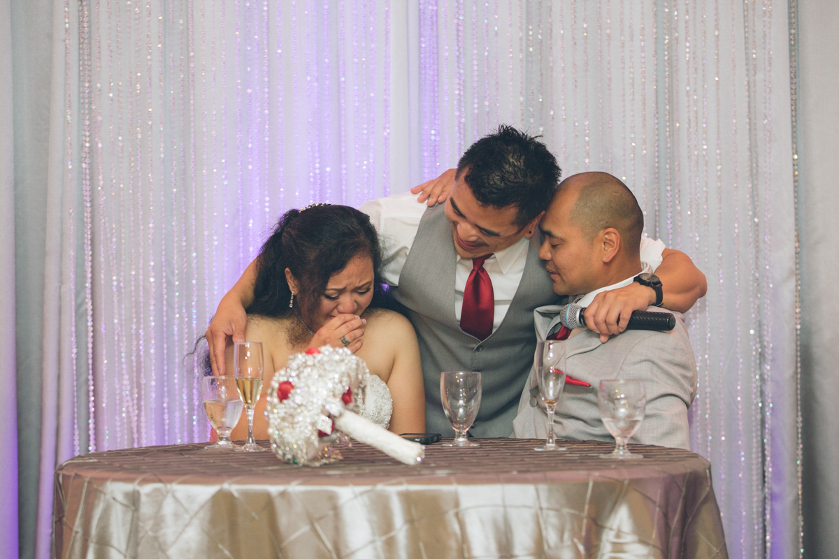 emotional toast by brother of bride and groom