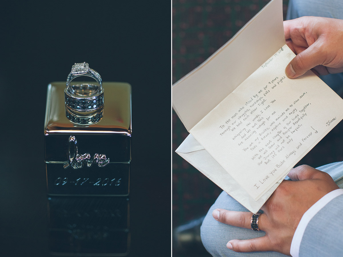 groom reads special letter from bride