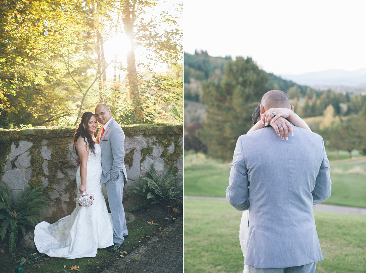 persimmon country club oregon wedding photos