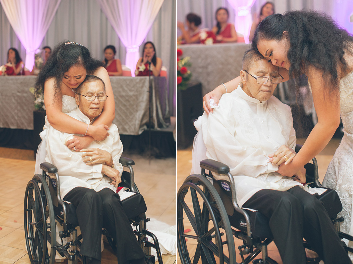 emotional father daughter dance with wheelchair