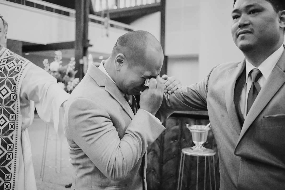 groom cry when bride walks down aisle