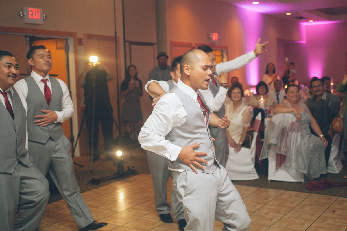 groom and groomsmen choreographed dance performance
