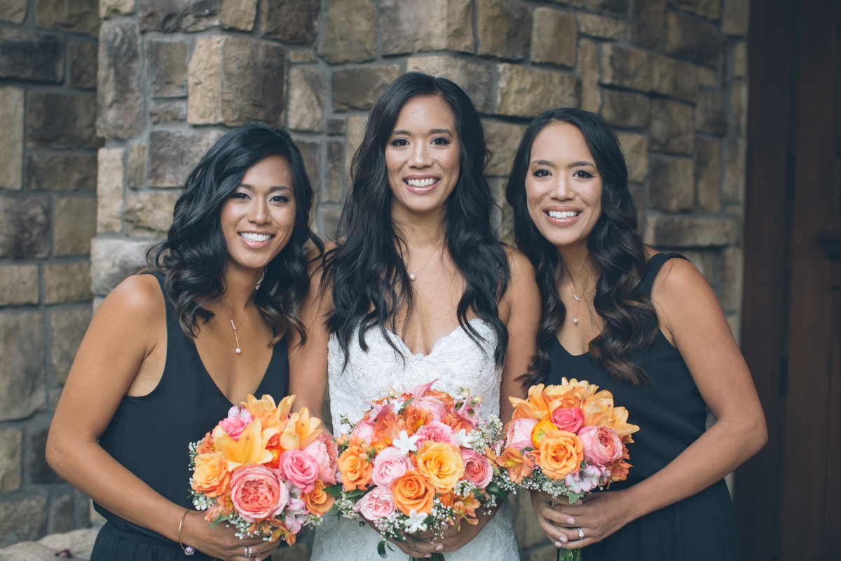 bride and twin sister
