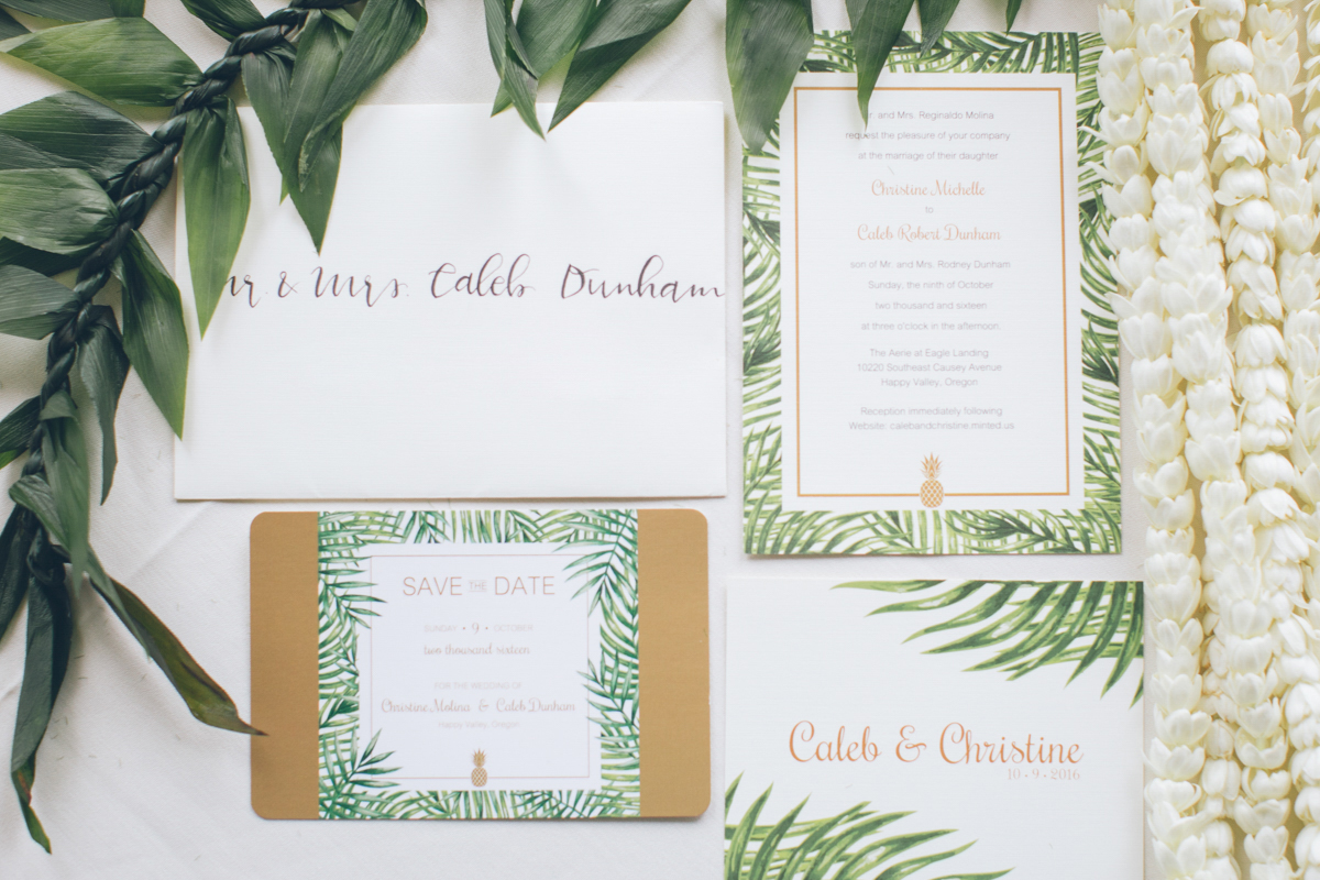 hawaiian themed wedding invitation ideas