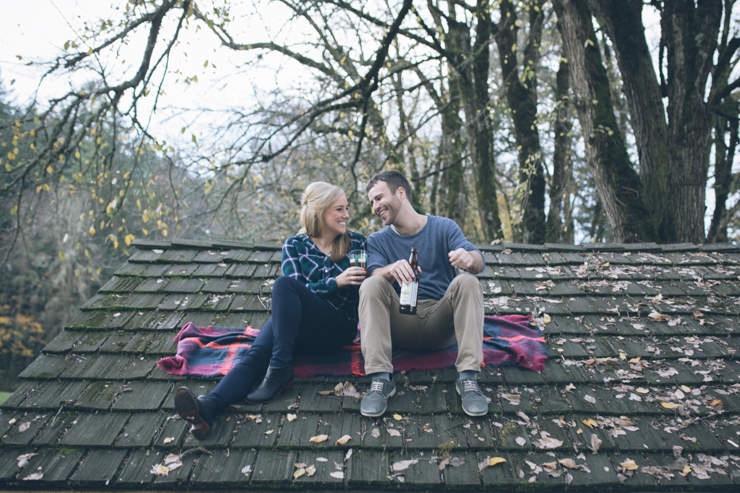 seattle couple engagement images in portland