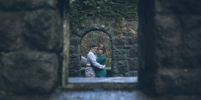 forest park oregon engagement photos