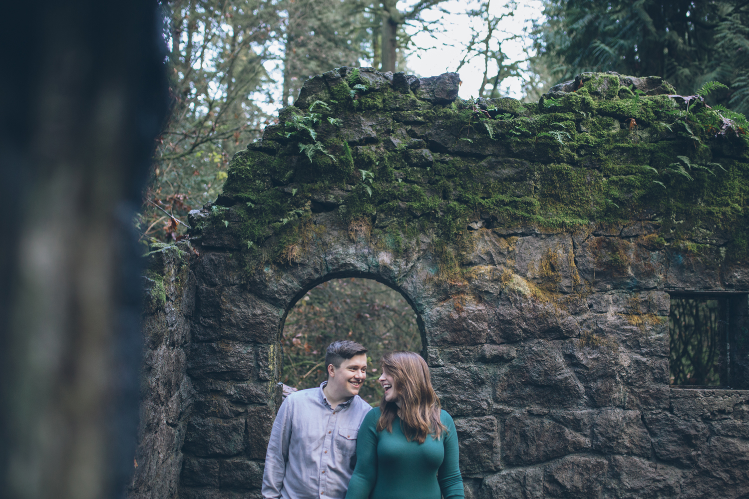 oregon forest park engagement pics