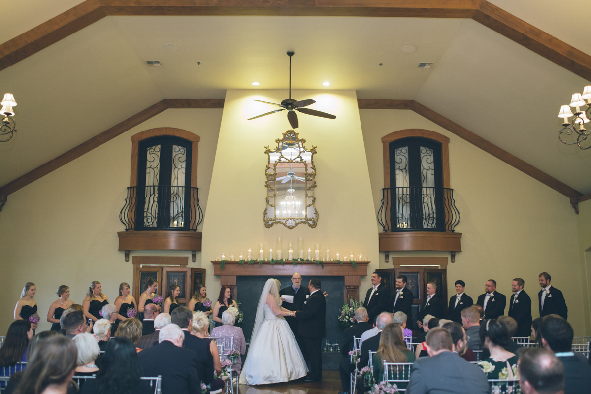 indoor wedding ceremony on rainy day