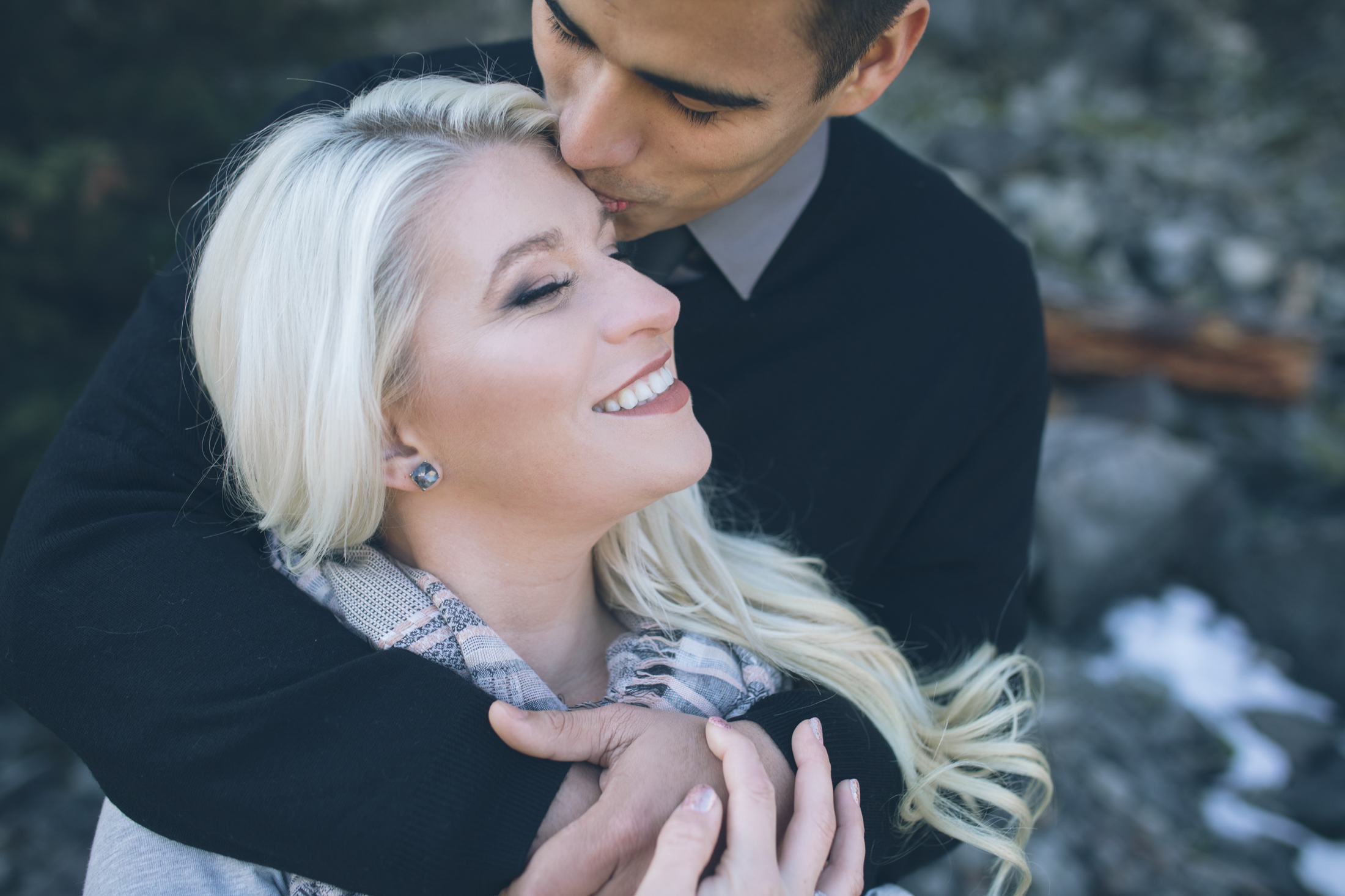 good looking bride and groom engagement photos